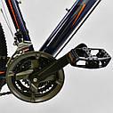 Спортивный велосипед ченый с оранжевым CORSO ATLANTIS 27,5 дюймов 24 скорости алюминиевая рама 19 дюймов, фото 5
