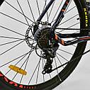 Спортивный велосипед ченый с оранжевым CORSO ATLANTIS 27,5 дюймов 24 скорости алюминиевая рама 19 дюймов, фото 4
