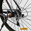 Спортивный велосипед ченый с оранжевым CORSO ATLANTIS 27,5 дюймов 24 скорости алюминиевая рама 19 дюймов, фото 6