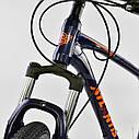 Спортивный велосипед ченый с оранжевым CORSO ATLANTIS 27,5 дюймов 24 скорости алюминиевая рама 19 дюймов, фото 8