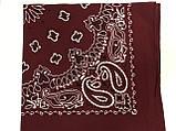 Хлопковая бордовая бандана классический рисунок, фото 2
