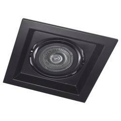 Карданный светильник DLT201 черный поворотный