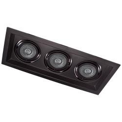 Карданный светильник DLT203 черный поворотный