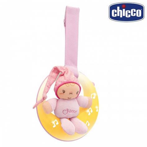 Подвеска музыкальная Chicco - Спокойной ночи / луна (02426.10) розовый, фото 2