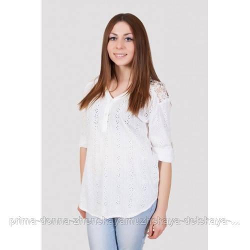 Блузка женская белая хлопок