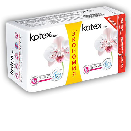 Прокладки Kotex Ultra Soft Super16 штук