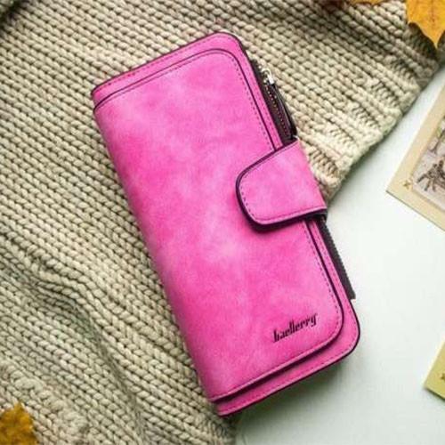 Кошелек женский Baellerry Forever, портмоне розовый (малиновый)