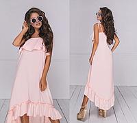 Женское летнее платье на брительках.Размеры: 42-48.+Цвета, фото 1