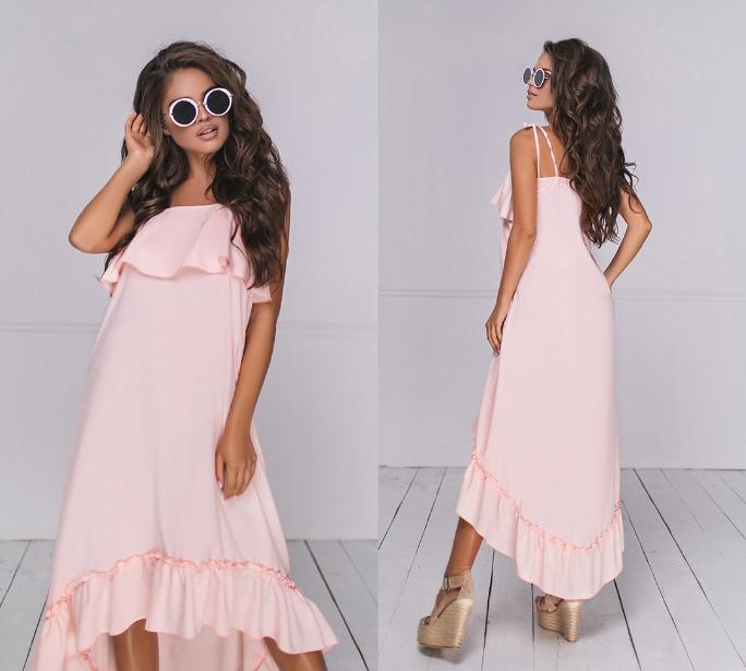 Женское летнее платье на брительках.Размеры: 42-48.+Цвета