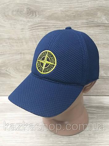Мужская бейсболка, кепка, материал лакоста, с вышивкой, размер 57-58, на регуляторе, фото 2