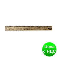 Линейка деревянная 30 см (300 мм) с формулами физика (шелкография) 103042