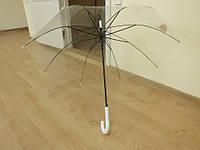 Стильный женский прозрачный зонт