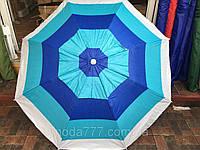 Пляжный зонт ромашка 1.8 м серебристое анти УФ напыление