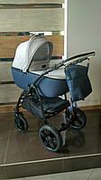 Детская коляска 2 в 1 Saturn Len Classik (Сатурн Лен Классик) Victoria Gold  синий