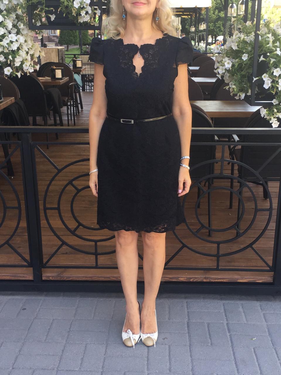 Платье кружевное в стиле Karen Millen нарядное черное