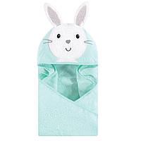 Дитячий рушник з капюшоном М'ятний кролик (Hudson Baby США)