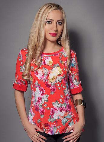 Женская блуза с цветами, фото 2