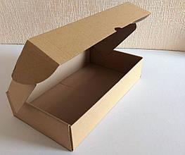 Коробка картонная самосборная бурая,