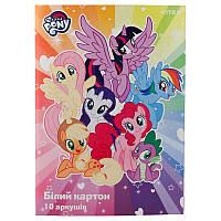 Картон белый односторонний А4  10 листов  My Little Pony Kite LP19-254