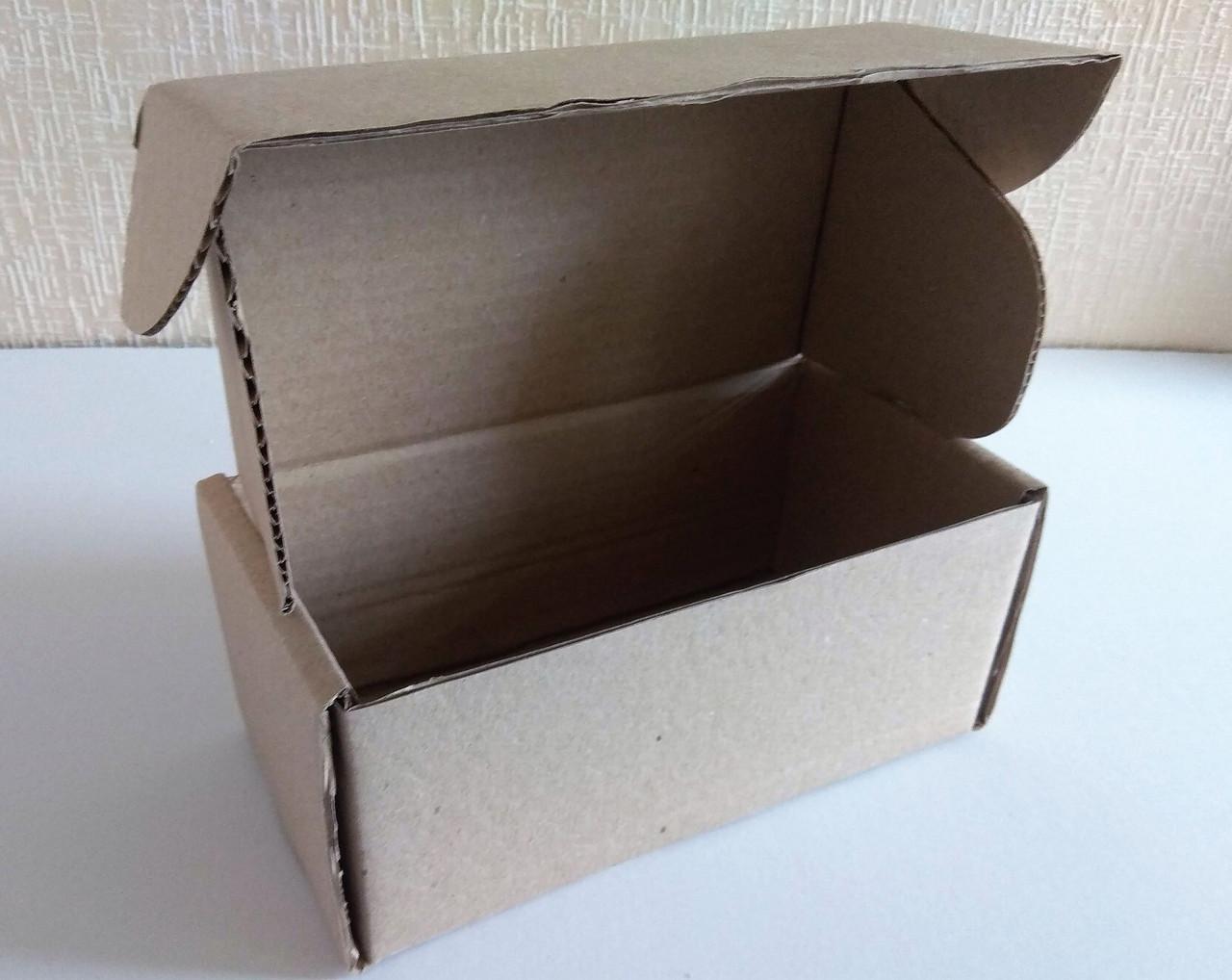 Коробка картонная самосборная бурая, 220*120*100 Т-22