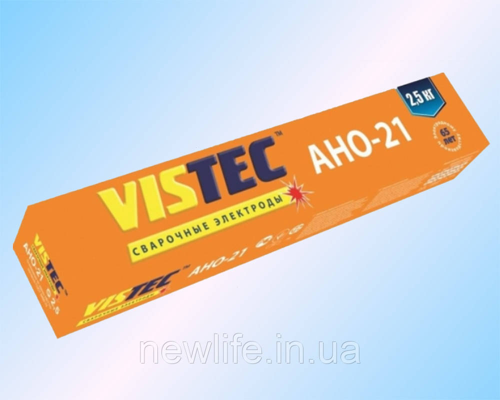 Вистек Сварочный электрод АНО-21 д. 3 мм, 2.5 кг