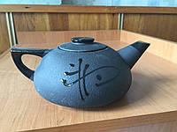 """Чайник заварочный керамический """"Черный большой"""" 1000 мл"""