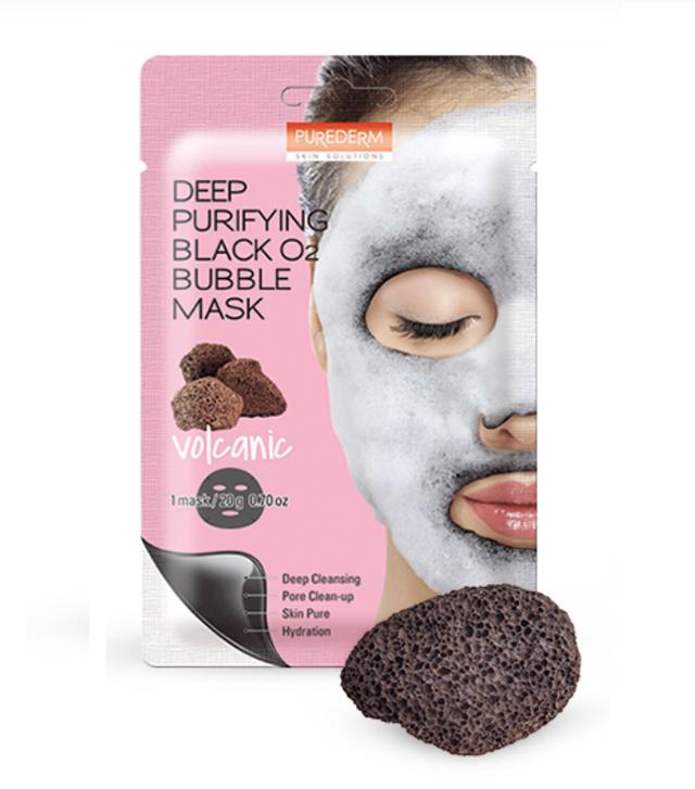 Purederm Deep Purifying Black O2 Bubble Mask Volcanic