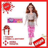 Кукла 3115 с длинными волосами, на каблуках, в костюме  для девочки, в кульке | куколка
