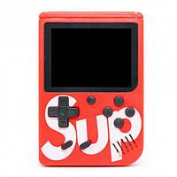 Портативная игровая ретро приставка 400 игр dendy денди SEGA 8bit SUP Game Box красная