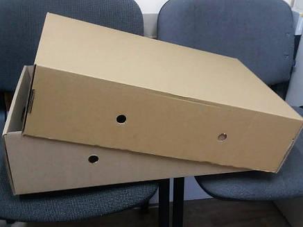 Лоток для рыбы коробка картонная самосборная бурая,, фото 2