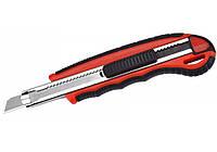Нож канцелярский Нож универсальный 9 мм  метал. направл.  пласт. корпус с резин. вставками Optima O40553