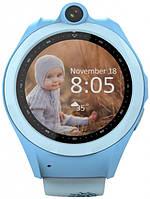 Умный смарт часы детские с телефоном и Gps трекером Wifi smart watch Q610 Kid голубые