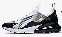 "Кроссовки Nike Air Max 270 ""White/Black/Metallic Gold"" Арт. 3934"