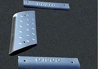 Fiat Doblo накладки на пластиковые пороги 3 шт Омса