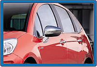 Citroen C5 Накладки на зеркала (2 шт., нерж.)