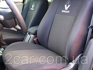 Чехлы в салон Renault Logan 2004- Чехлы на сидения Рено Логан (Prestige_Standart) модельные