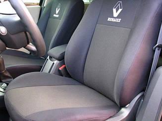 Чехлы в салон Renault Logan 2013- Чехлы на сидения Рено Логан (цельный) (Prestige_Standart) модельные