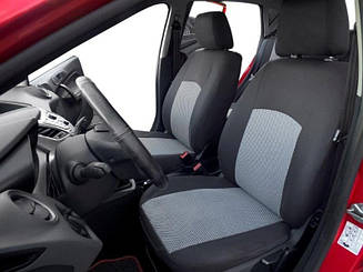 Чехлы в салон Dacia Logan 2013(цельный) Чехлы на сидения Дача Логан (Prestige_Standart) модельные