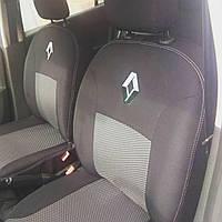 Чехлы в салон модельные Renault Logan MCV 7 мест (цельный) с 2009-13 г (EMC-Elegant)