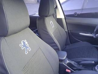 Чехлы в салон Peugeot 301 2013- Чехлы на сидения Пежо (Prestige_Standart) модельные