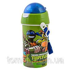 "Набор ""Ninja Turtles (Черепашки ниндзя)"". Ланч бокс (ланчбокс) + бутылка с трубочкой, фото 2"
