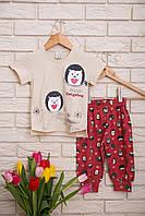Летняя пижама  с капри для девочек  Nicoletta 85274, фото 1
