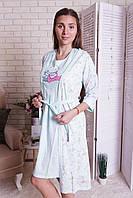Комплект халат и сорочка  для  беременных и кормящих  Nicoletta  7262, фото 1