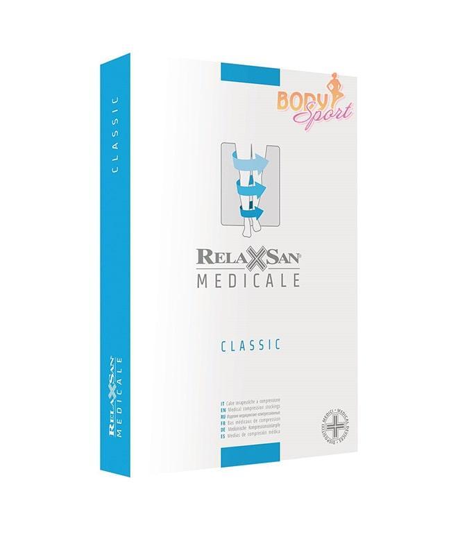 Компрессионные гольфы от варикоза 2 класса Relaxsan Medicale Classic М2450А с открытым носком 23-32 mmHg