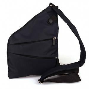 Мужская сумка Cross Body 4634 Мессенджер антивор на плечо рюкзак слинг Чёрная