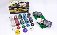 Набор для покера 200 фишек в картонной коробке Poker Chips 538-045