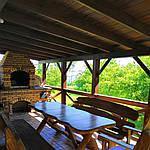 Стол деревянный из акации и ореха с лавками + стиль рустик под заказ, фото 9