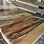 Стол деревянный из акации и ореха с лавками + стиль рустик под заказ, фото 8