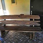 Стол деревянный из акации и ореха с лавками + стиль рустик под заказ, фото 3