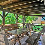 Стол деревянный из акации и ореха с лавками + стиль рустик под заказ, фото 2